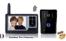 "Portier Vidéo Interphone Sans Fil 2.4GHz Moniteur Ecran 3.5"" TFT LCD Caméra IR"