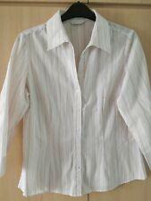 Matalan white striped shirt size 14