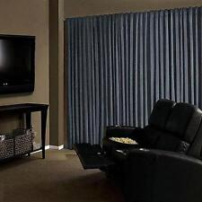 Absolute Zero 95-Inch Velvet Blackout Home Theater Curtain Panel In Stone Blue