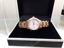 GUESS Ladies Watch Day & Date Rose gold plated bracelet watch (p95)