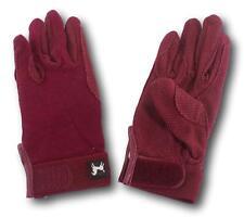 D.A. Brand Burgundy Cotton Pimple Palm Riding Gloves Size 5 Horse Tack Equine
