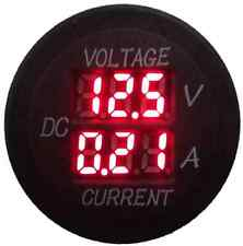 Volt/Amp meter Flush Mount for Car 4x4 Camper Trailer Caravan 12 24vdc