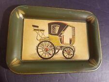 Old Antique Vintage Car Auto Automobile Collector Metal Tray #