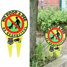 Glow in the dark PVC Dog Signs No Poop and Pee Signs Be Respectful Home decor