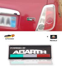3D Metal Pegatina Adhesivo Powered Abarth Etiqueta para Fiat  + Regalo