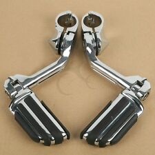 """Adjustable Long Highway 1-1/4"""" Bars Foot Pegs For Harley Touring Street Glide"""
