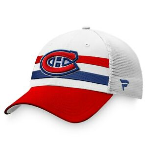 Men's Montreal Canadiens Red/White 2021 NHL Draft Authentic Pro Adjustable Hat