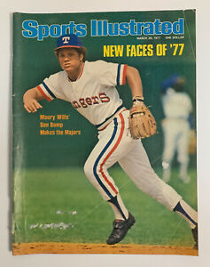 Sports Illustrated March 28, 1977 Bump Wills Texas Rangers Cover Only 3/28/77