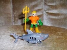 Imaginext Dc Comics Super Friends Aquaman Complete w/ Trident & Robo Shark