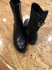 Women's Ralph Lauren polo Chelsea boots 6.5 B Mona black Leather Ankle Fashion