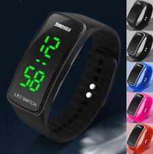 Fashion Women Boy Girl Silicone Bracelet Digital LED Date Sport Wrist Watch Gift
