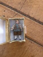 Antique Miniature Carl Horn  Cute Boy  In Show Case Box
