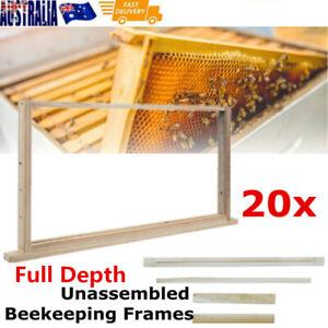 20 x Full Depth Unassembled Beekeeping Frames Bee Hive Frame Timber Wood Beehive
