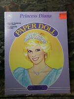 Vtg 1985 Princess Diana Di Paper Doll Golden Book Includes Tiara Unused C