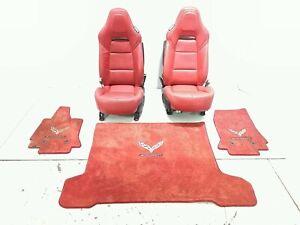 17 Chevrolet Corvette C7 Stingray Leather Seat Assembly Kit Red