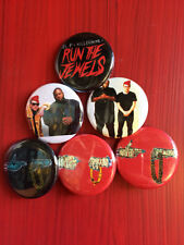 """1.25"""" Run The Jewels pin back button set of 6"""