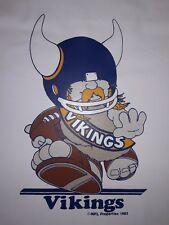 MN Vikings Mascot Huddles NFL Properties VTG 1983 stadium seat cushion Mat 50x24