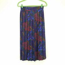 Vintage Koret Womens Size 14 Midi Skirt Pleated Multicolor Paisley Elastic Waist