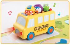 Pororo and Friends Mini School Bus 6 Figures Sound Toy Famous Korean Animation