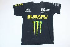 DC Shoes Small Subaru Rally Team Dave Mirra Monster Energy Drink Shirt