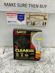 Satco 25W Clear Light Bulb, Incandescent,130V, Brass Base (S3940, 2BULB( #12EB1