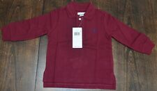 Polo Ralph Lauren baby polo rugby long sleeve shirt $30 tag burgundy 18 mos. NWT