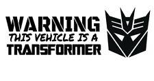 Car window decal truck outdoor sticker This vehicle Transformer Decepticon