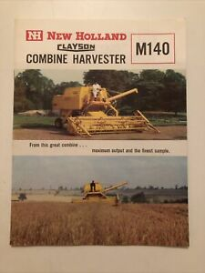 New Holland Clayson Combine Harvester M140 Brochure Plus Price List