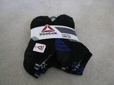 Reebok Mens Low Cut Socks 6 Pair Black Grey Blue Stripe Size 10-13