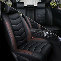 PU Leather Car Seat Cover 5-Seat SUV Cushions Front & Rear Ful Set Universal