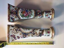 Chinese Vintage Porcelain Candle Stivks