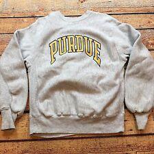 80s VTG PURDUE UNIVERSITY REVERSE WEAVE Heavy M Sweatshirt BOILERMAKERS USA