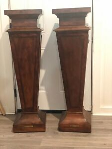 **HARD TO FIND**ETHAN ALLEN PAIR OF NEOCLASSICAL PEDESTALS MODEL 45-1567