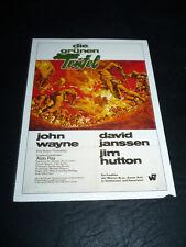 THE GREEN BERETS, film card [John Wayne, David Janssen, Jim Hutton]