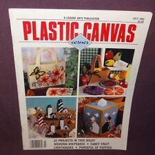 Plastic Canvas Corner Magazine July 1993 22 Designs Wedding Lighthouses Fruit