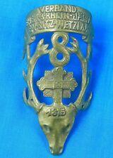 Antique German Germany Ww1 8 Jager Regiment Flag Pole Plaque Badge