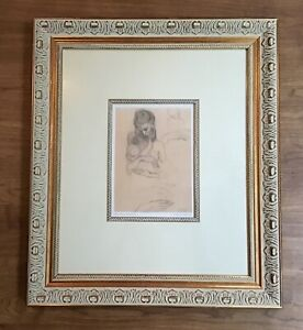 Pablo Picasso Mother & Child 1904 Print Drypoint Pencil Sketch Museum Collection