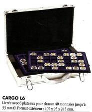 VALISETTE NUMISMATIQUE CARGO L6 pour 240 pièces de 2€ sous capsules Réf 343105 B