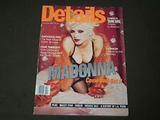 1994 DECEMBER DETAILS MAGAZINE - MADONNA COVER - GREAT FASHION - O 7461