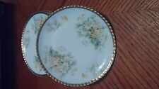 """BAVARIA HAND PAINTED PLATE WITH """"DAISIES"""" GOLD trimmed set of 5"""
