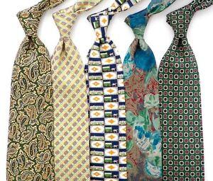 Lot of 5 Green Silk Italian Designer.