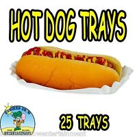 25 Hot Dog Tray Holders Paper Fluted Brand NEW CONCESSION SUPPLY #1