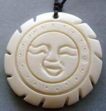 Tibet Bone Happy Face Sun Pendant Jewelry