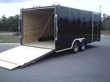8.5x20 Enclosed Cargo Trailer V NOSE 22 Utility Car Hauler 8 Motorcycle Box 2017