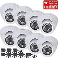 8 x Security Camera w/ SONY Effio CCD 700TVL Outdoor IR Day Night Wide Angle mgd