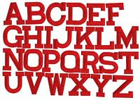 """RED - 2"""" Alphabet/Letters your choice - Iron on Applique/Embroidered Patch"""