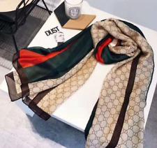 GUCCI brand new high quality 100% silk scraf pashmina scarves women soft scarf