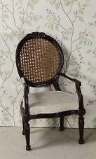 Bespaq Cane Back Chair with Upholstered Seat - Dollhouse Miniature (BQ-3200)