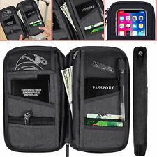 Passport Holder Case Cover Wallet Organiser Travel Bag Document Security Pouch