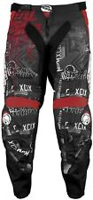 NOS MSR 351420 METAL MULISHA BROADCAST PANTS BLACK RED SIZE YOUTH 18